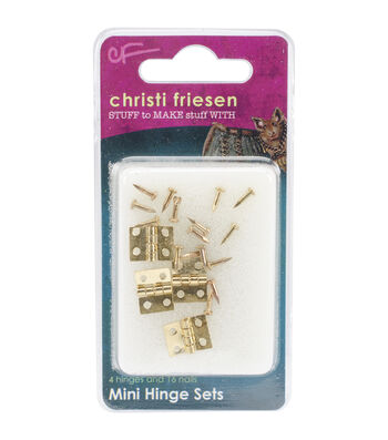 Great Create Christi Friesen Mini Hinges And Nails-Brass