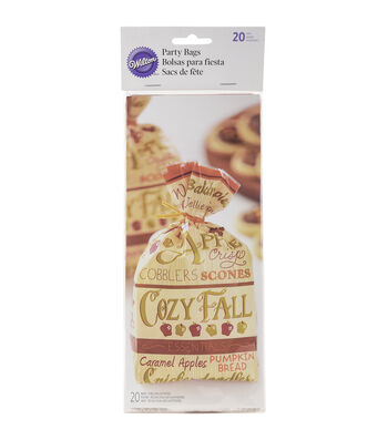 Wilton Standard Party Bags 20/Pkg-Cozy Fall