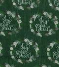 Christmas Cotton Fabric 43\u0022-Joy & Cheer Wreaths