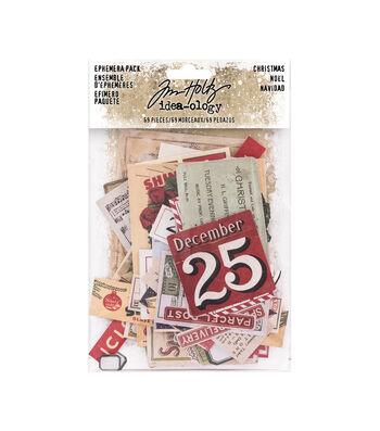 Tim Holtz Idea-ology Paperie Ephemera Pack-Christmas