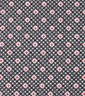 1930\u0027s Cotton Fabric 43\u0022-Diamond Dots Black
