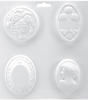 """Soapsations 8""""x9"""" Soap Mold-Cameo"""