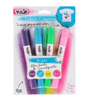 Tulip Fabric Color Crayons 4/Pkg-Bright, , hi-res