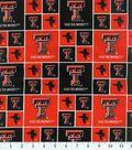 Texas Tech University Red Raiders Cotton Fabric 43\u0022-Block