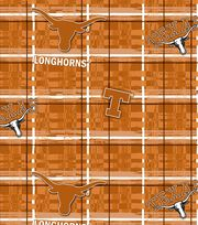 "University of Texas Longhorns Cotton Fabric 44""-Plaid, , hi-res"