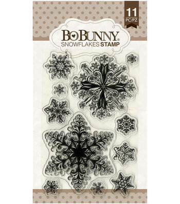 """Essentials Stamps 4""""X6""""-Snowflakes"""
