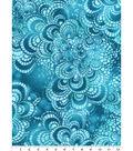 Snuggle Flannel Print Fabric 42\u0022-Tile Aqua Tie Dye