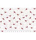 Snuggle Flannel Fabric 42\u0027\u0027-Cardinals on Vines
