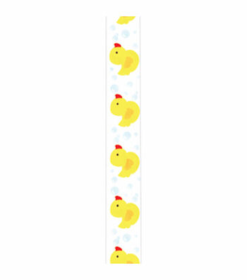 Offray White Craft Ribbon-Rubber Ducky