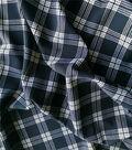 Stretch Crepe Fabric 58\u0022-Black Plaid