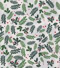 Christmas Cotton Fabric 43\u0022-Pine Leaves