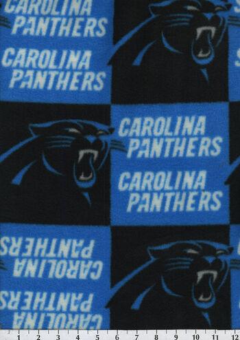 """Carolina Panthers Fleece Fabric 58""""-Block"""