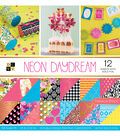 DCWV 36 Pack 12\u0027\u0027x12\u0027\u0027 Premium Stack Printed Cardstock-Neon Daydream