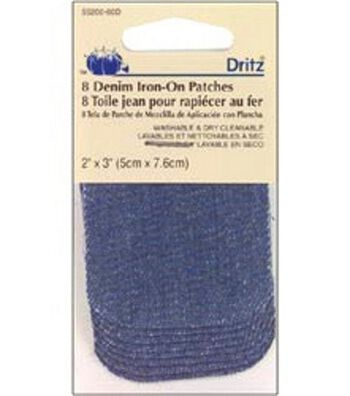 Dritz Twill Iron-On Patches 8pcs 2''x3''
