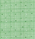 Keepsake Calico™ Cotton Fabric-Dark Green Grid with Dots