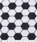 Blizzard Fleece Fabric 59\u0022-Soccer Print