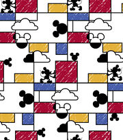"Disney® Mickey Mouse Cotton Fabric 43""-Clouds Raincoat, , hi-res"