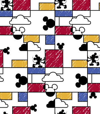 """Disney® Mickey Mouse Cotton Fabric 43""""-Clouds Raincoat"""