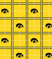 "University of Iowa Hawkeyes Flannel Fabric 42""-Plaid, , hi-res"