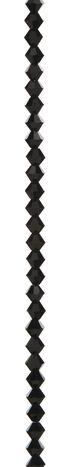 7\u0022 Bead Strands - Jet Black Crystal Bicones, 6mm