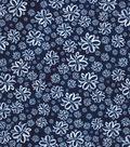 Kathy Davis® Cotton Fabric 44\u0027\u0027-Floral Sketch on Navy