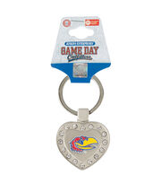 University of Kansas Heart Keychain, , hi-res