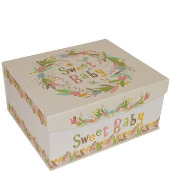 Organizing Essentials™ Medium Fliptop Box-Baby Tribal