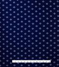 Varsity Club Stretch Silk Fabric 46\u0022-Navy