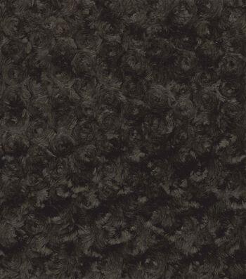 Faux Fur Fabric-Swirl Design