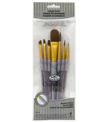 Royal & Langnickel® Shader Brush Set 7pk-Brown Taklon
