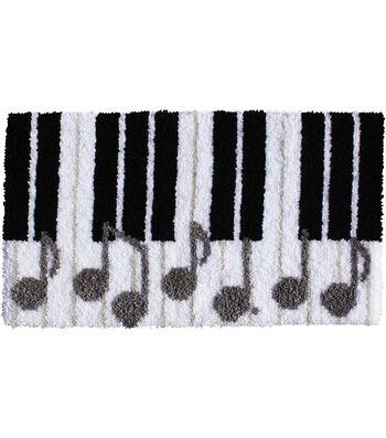 """Latch Hook Kit 30.5""""X17""""-Piano Keys"""