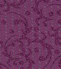 Silky Prints Rayon Fabric-Dot Flourish Purple