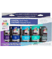 Tulip Color Shot Instant Fabric Color Spray Variety 5/Pkg-Coastal, , hi-res