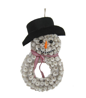 Blooming Holiday Woodcurl Snowman