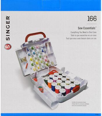 """Singer Sew Essentials Storage System 165pcs-10""""X8.5""""X6"""" White"""