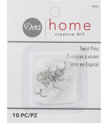 Twist Pins-Clear