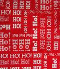 Keepsake Calico™ Holiday Cotton Fabric 43\u0022-Ho Ho Ho