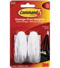 Command Designer Medium Hooks W/Adhesive-2 White