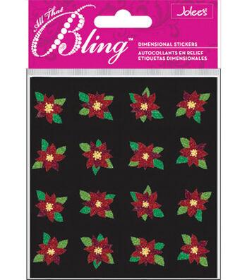 EK Success Bling Stickers-Mini Poinsettias