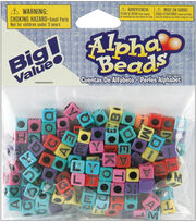 Darice Plastic Beads Alpha Multi, , hi-res
