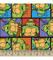 Nickelodeon Teenage Mutant Ninja Turtles Block Cotton Fabric, , hi-res