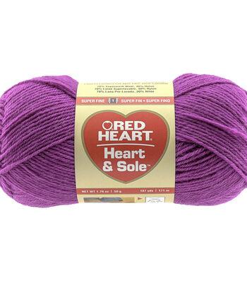 Fushsia-yarn Heart & Sole
