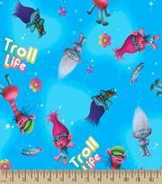 Trolls Troll Life Print Fabric, , hi-res