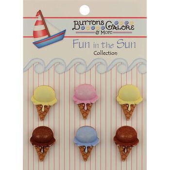 Fun In The Sun Buttons-Ice Cream Cones