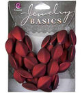 Jewelry Basics Acrylic Beads-Red Oval 40/Pkg