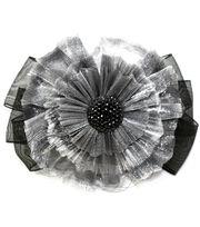 Laliberi Quick Clip Flowers 1/Pkg-RuffleWith Bow, , hi-res