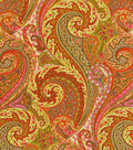 Williamsburg Lightweight Decor Fabric 54\u0022-Jaipur Paisley/Tumeric