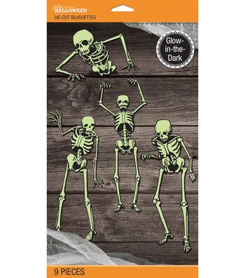 Jolee's Boutique® Glow-In-The-Dark Mega Die-Cut Silhouette-Skeleton