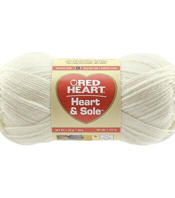 Ivory-yarn Heart & Sole