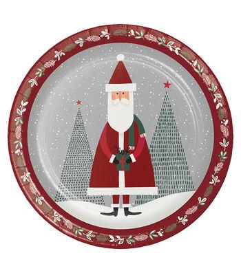 Maker's Holiday Christmas 8 pk Dinner Plates-Gift of Santa